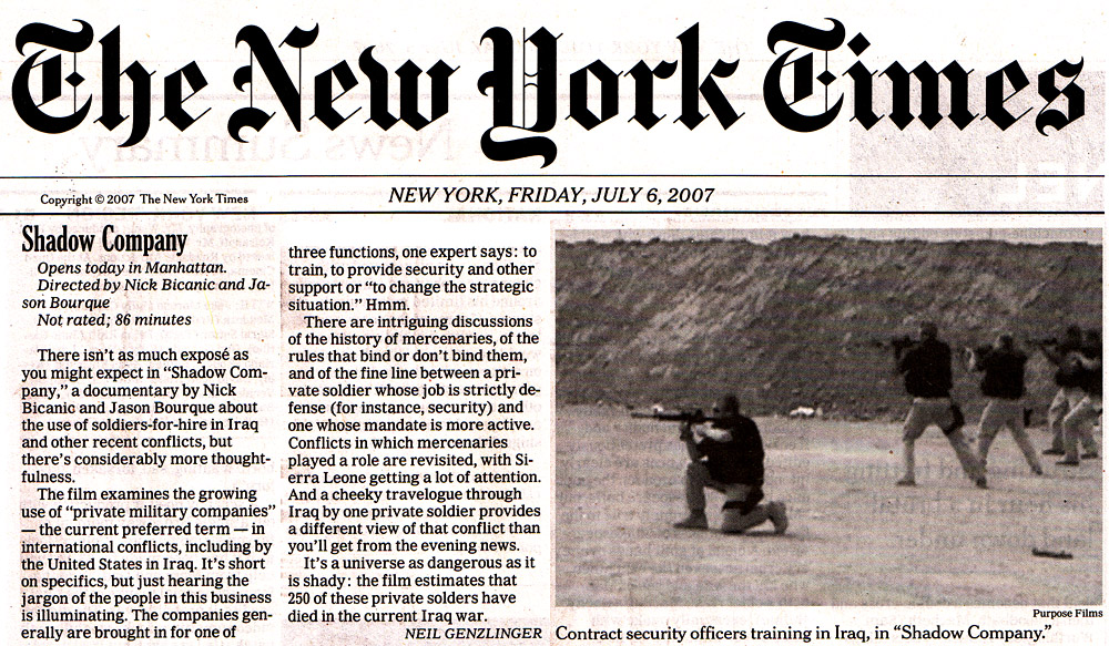 New york times july 6th 2007